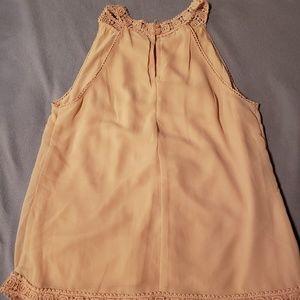 Peachy lace sleeveless tank top